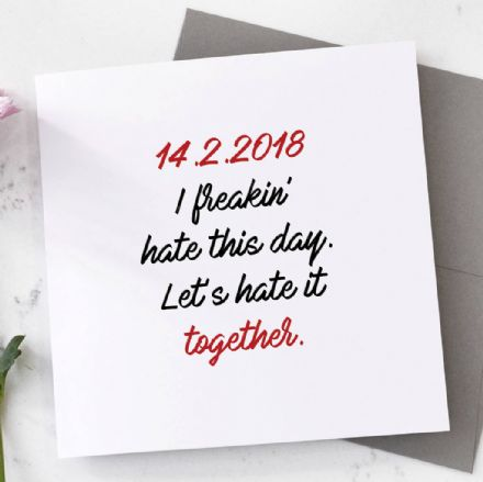 Personalised I Freakin' Hate This Day Card